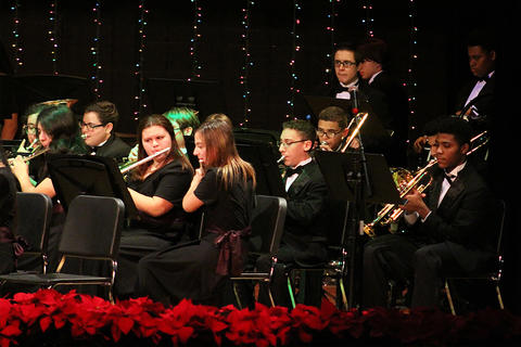EPHS Band members perform at the school's 2017 Winter Concert.