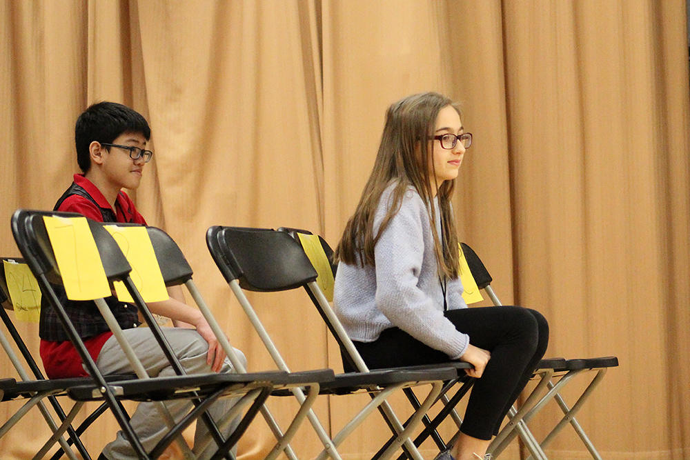 Students compete in the 2018 District Spelling Bee.