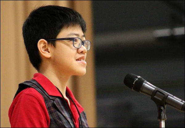 John Mills 6th Grader Wins His Third Straight District Spelling Bee Title