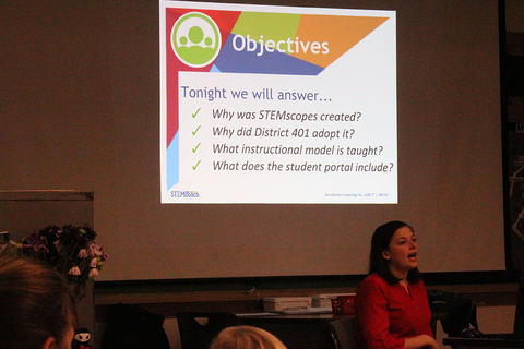 Elmwood science and math teacher Ms. Morgan Freeck provides an overview of STEMscopes.