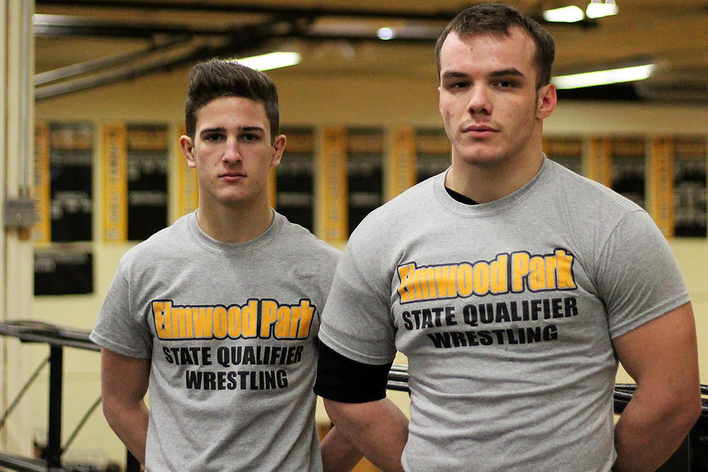 Joey Giurini and Olsi Rama, EPHS state wrestling qualifiers.