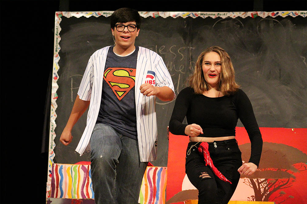 "Students perform ""Godspell."""