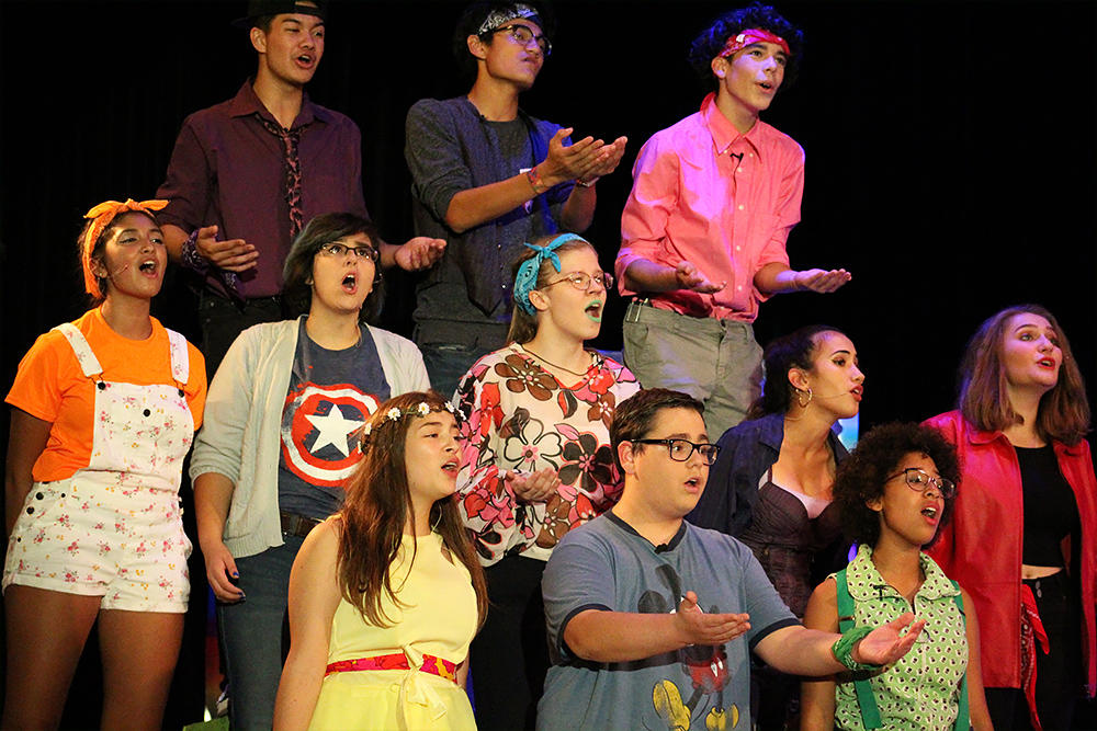 "EPHS students perform ""Godspell,"" the 2017 Fall Musical."