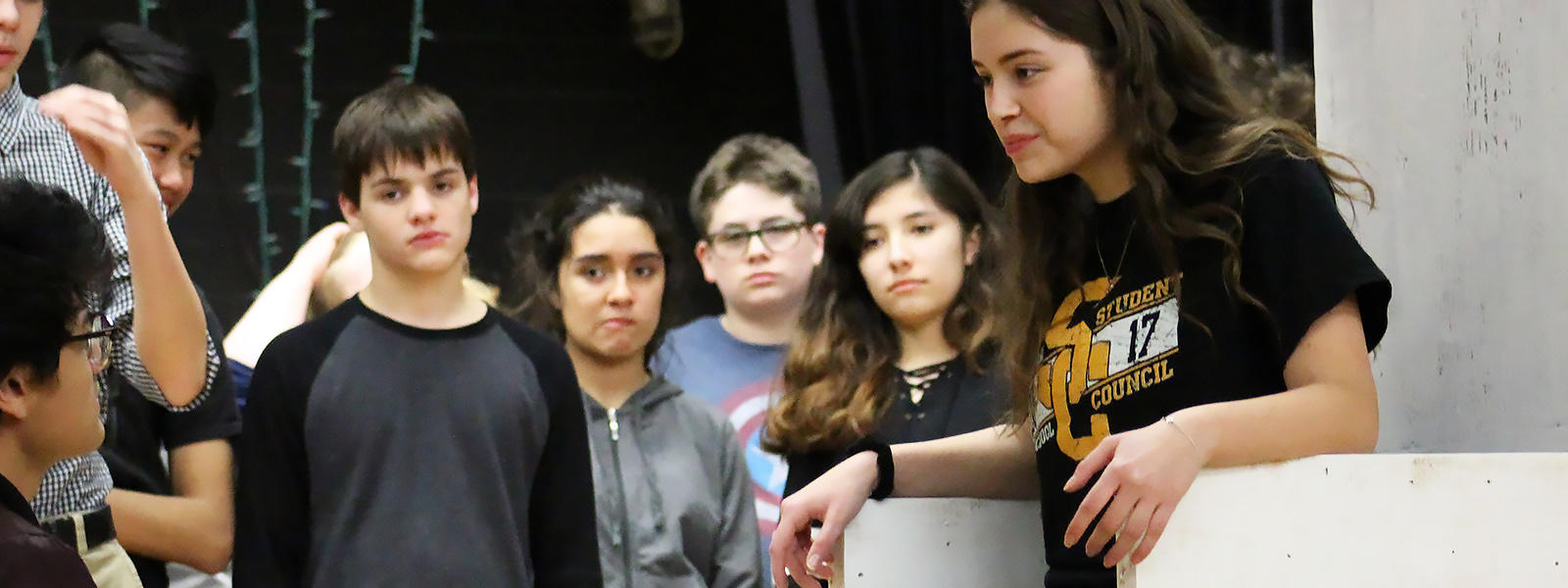 "EPHS students rehearse the 2018 Spring Musical, ""Cinderella"""
