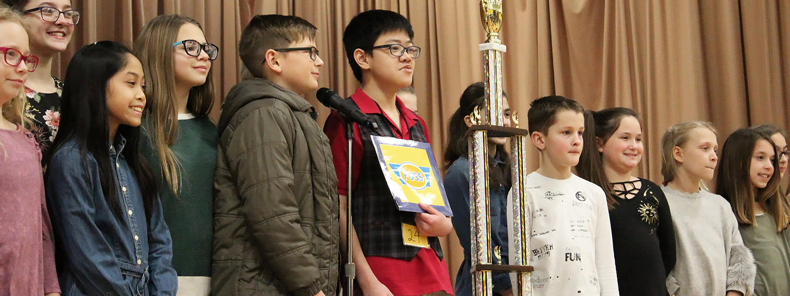 Andrew Ticao wins the 2018 District Spelling Bee.
