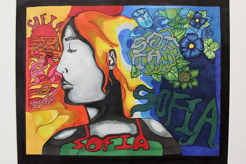 "Sofia Muñoz, ""Untitled,"" third place, marker"
