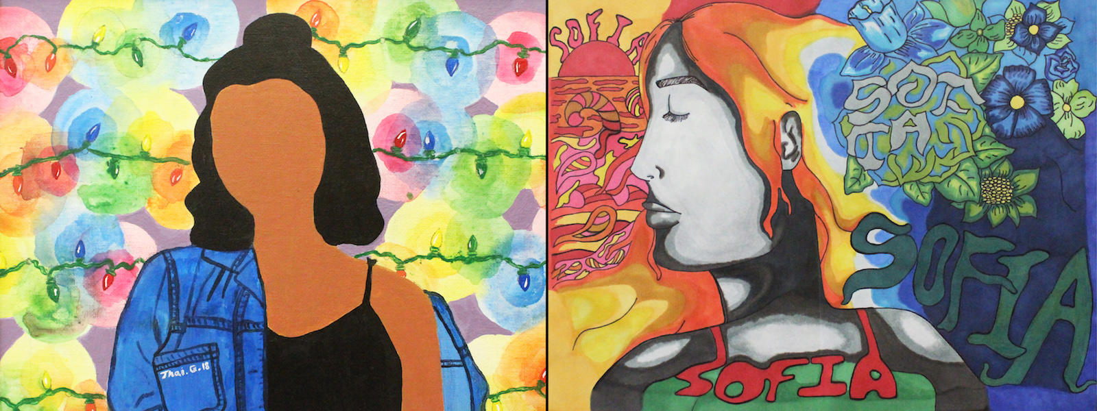 Two award-winning paintings by EPHS students