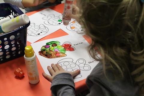 ECC students participate in Dr. Seuss Family Night.