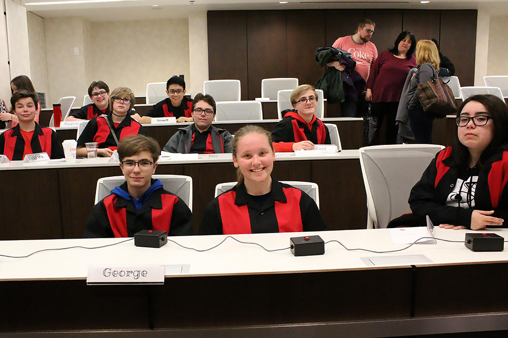 Elm's Scholastic Bowl varsity team at the Middle School National Tournament.