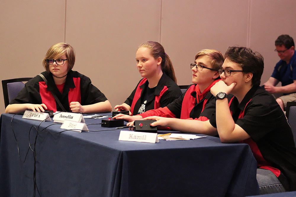 Elm Scholastic Bowl students compete in the Middle School National Championship Tournament.