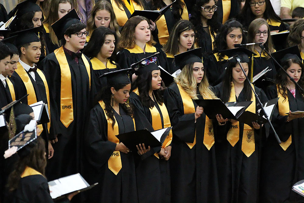 EPHS Combined Choirs perform at graduation.