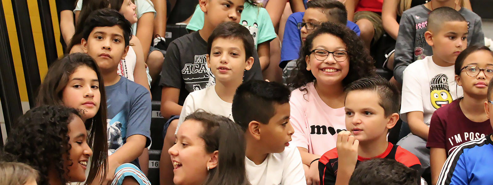 Elmwood students attend the 2018 first-day assembly.