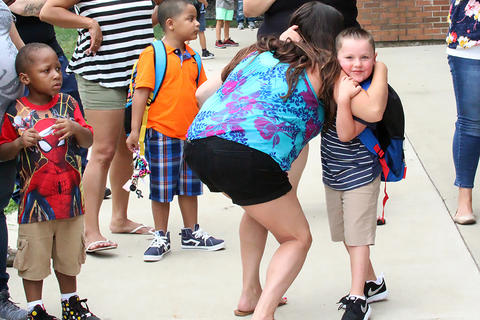 First day of school at the Early Childhood Center.
