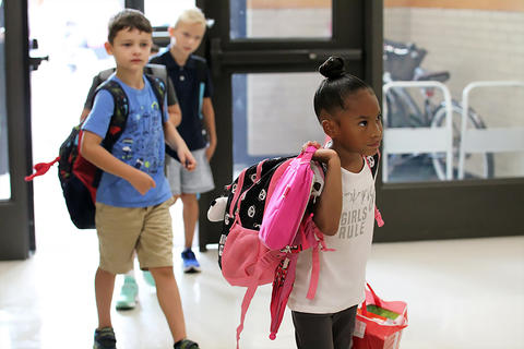 First day of school at John Mills Elementary.