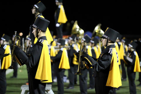 Homecoming Game: Marching Tigers Before Kickoff