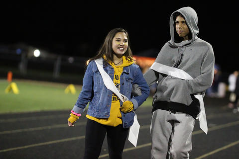 Homecoming Game: Freshman Class Princess and Prince at Halftime