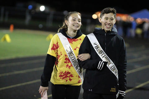 Homecoming Game: Junior Class Princess and Prince at Halftime