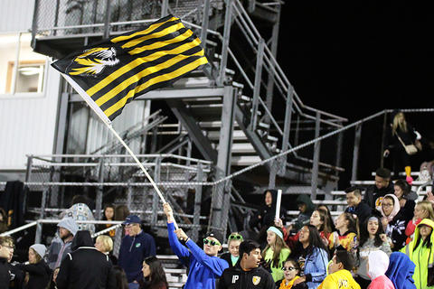 Homecoming Game: EPHS Student Section — Flying the School Colors