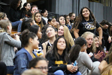 Black & Gold Day Pep Assembly: Waiting to Begin