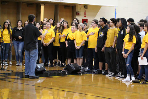 Black & Gold Day Pep Assembly: EPHS Choir