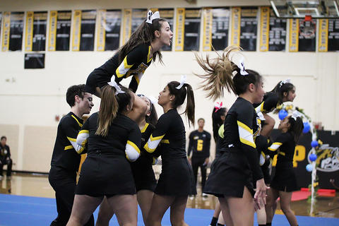 Black & Gold Day Pep Assembly: JV Cheerleaders
