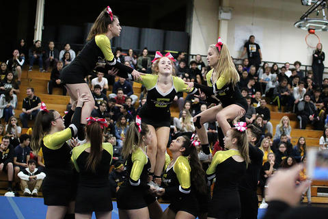 Black & Gold Day Pep Assembly: Varsity Cheerleaders