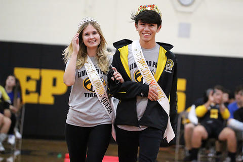 Black & Gold Day Pep Assembly: Kamila Nalodka and Tyler Ocampo, Senior Homecoming Queen and King