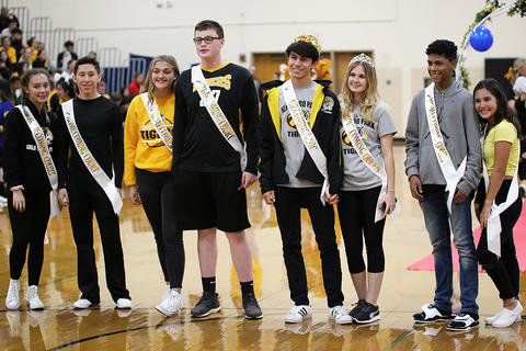 Black & Gold Day Pep Assembly: Homecoming Court