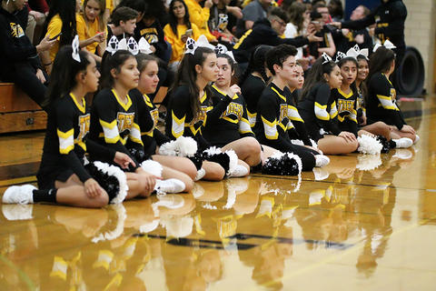 Black & Gold Day Pep Assembly: Waiting for Tug of War to Begin