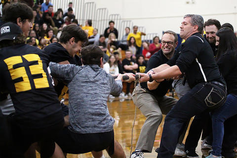 Black & Gold Day Pep Assembly: Staff vs. Seniors