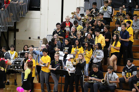 Black & Gold Day Pep Assembly: Marching Band Ready to Conclude the Festivities