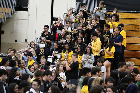 Black & Gold Day Pep Assembly: Marching Band Concludes the Festivities