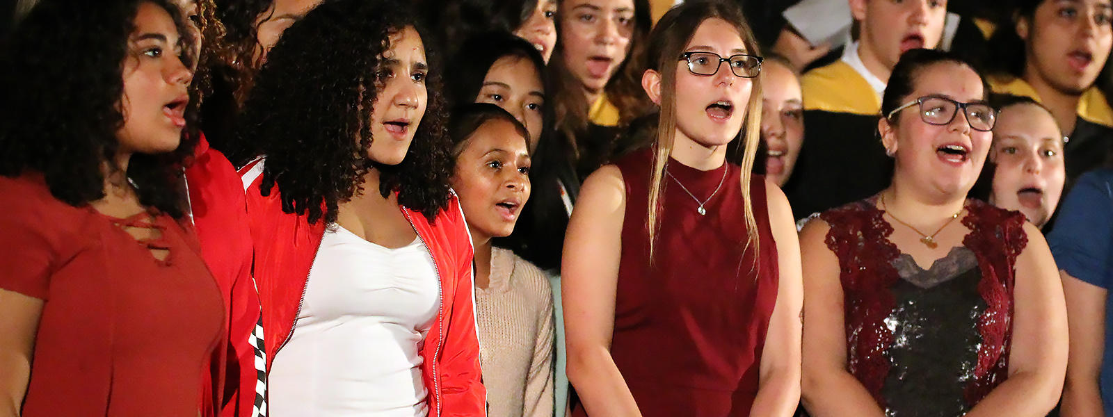 Members of the Elm Choir perform at Kaleidoscope 2018.