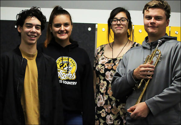Four EPHS students are recognized by the Illinois Music Education Association.