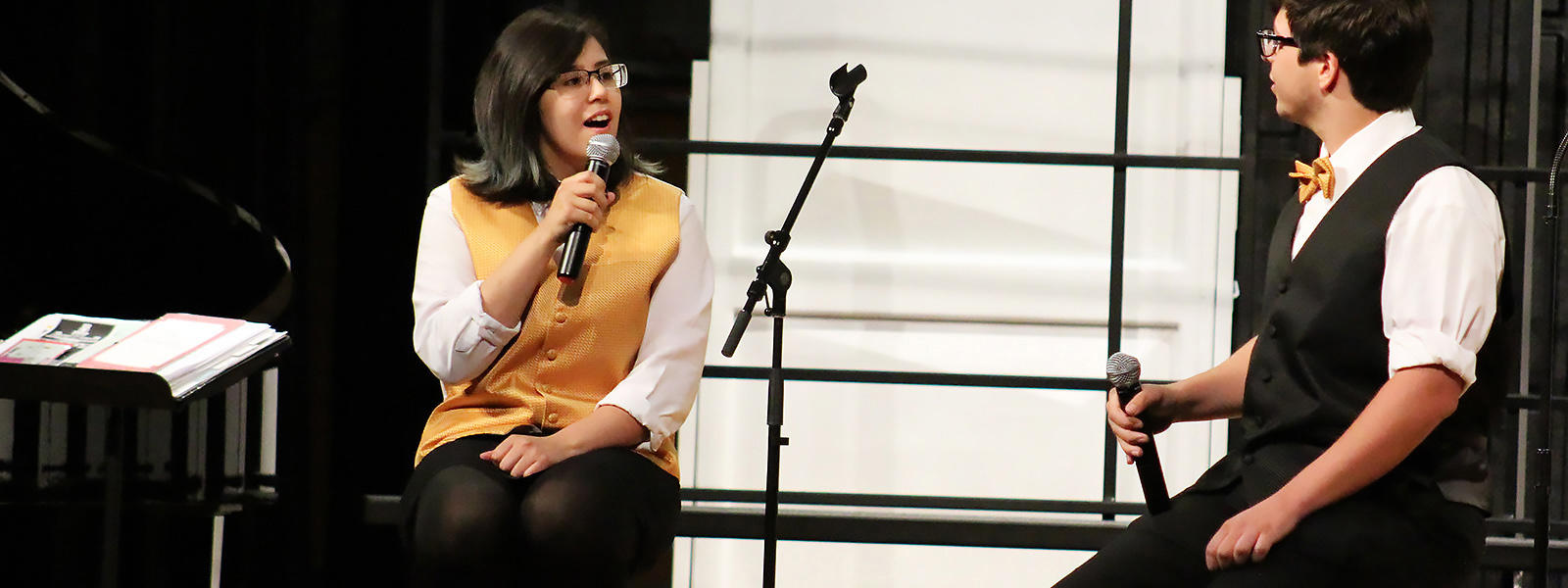 Jackie Vargas and Michael Matos perform a duet at last year's spring choral concert.
