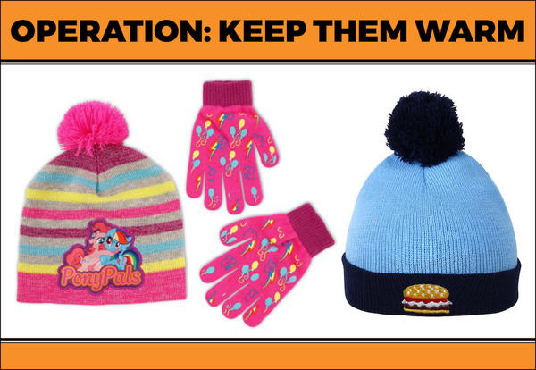 Images of winter accessories for children