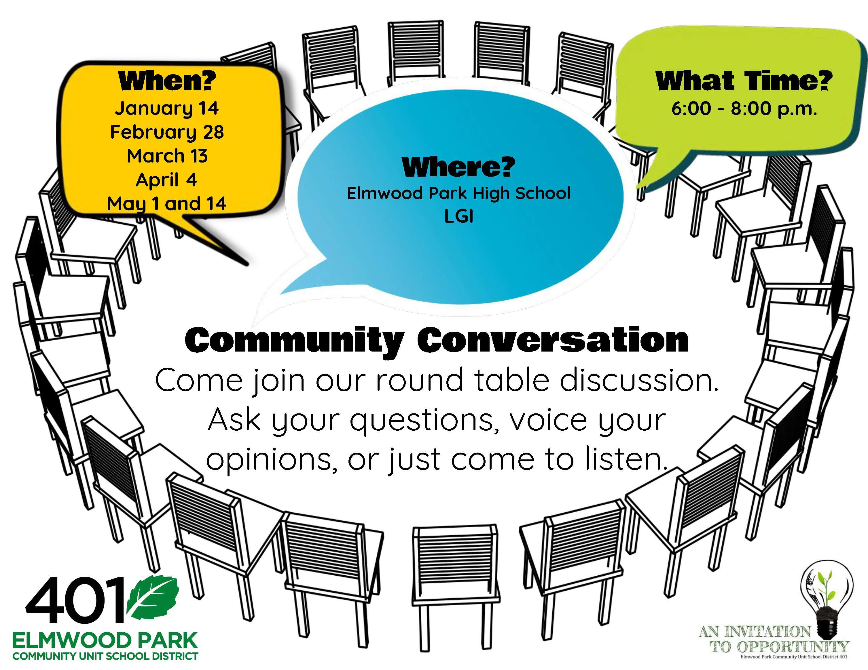 Community Conversation flyer