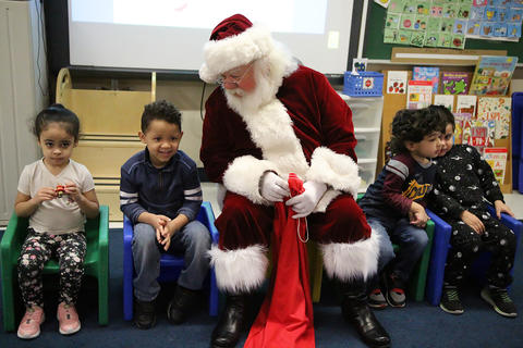 Santa visits ECC morning classes