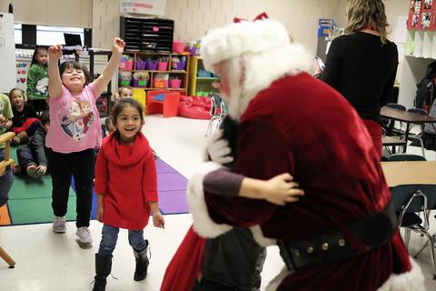 Santa visits ECC morning classes