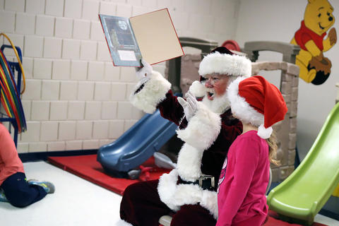 Santa visits ECC p.m. classes