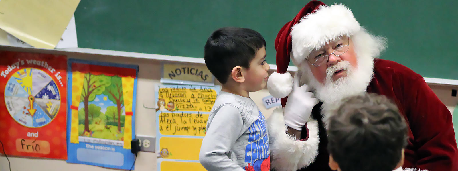 Santa visits ECC afternoon classes