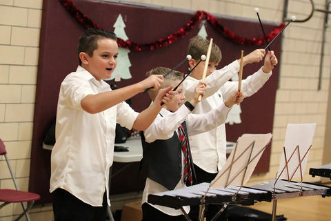 John Mills Band members perform during the school's 2018 Winter Concert.