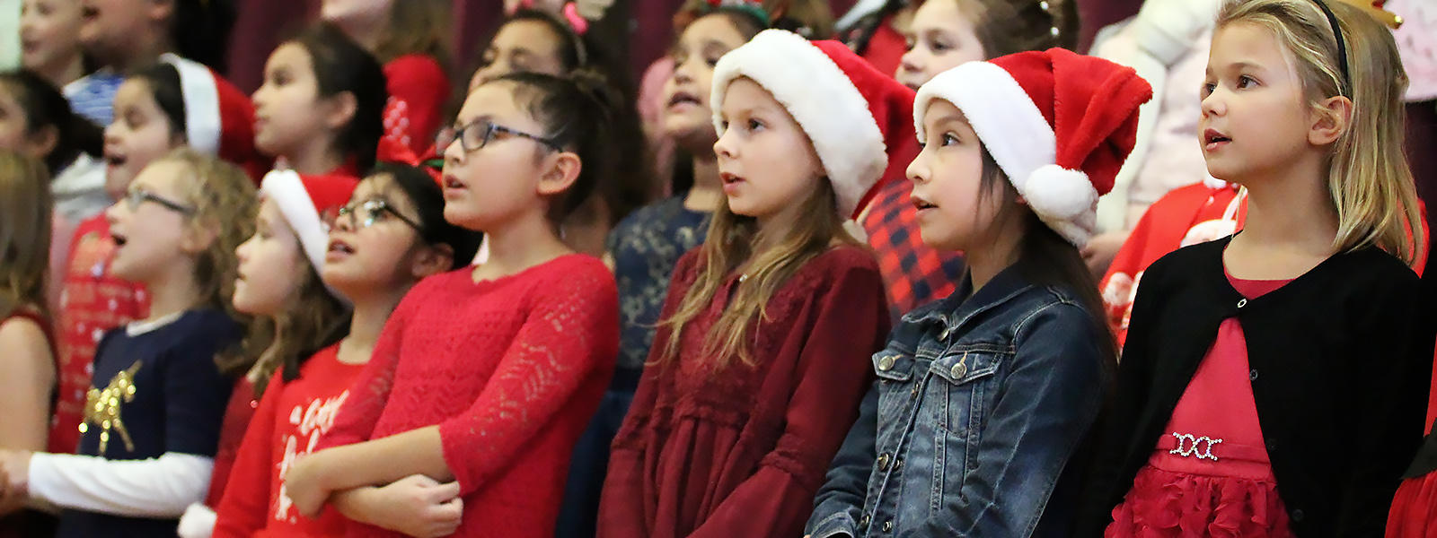 John Mills Choir members perform at the 2018 Winter Concert.