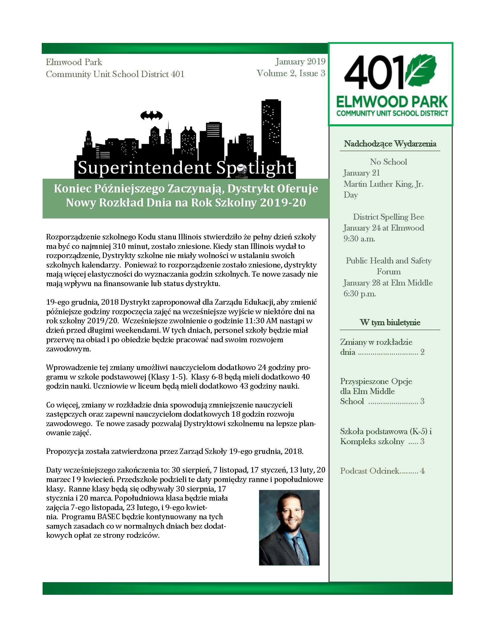Superintendent Spotlight, Polish edition, January 2019 issue, page 1