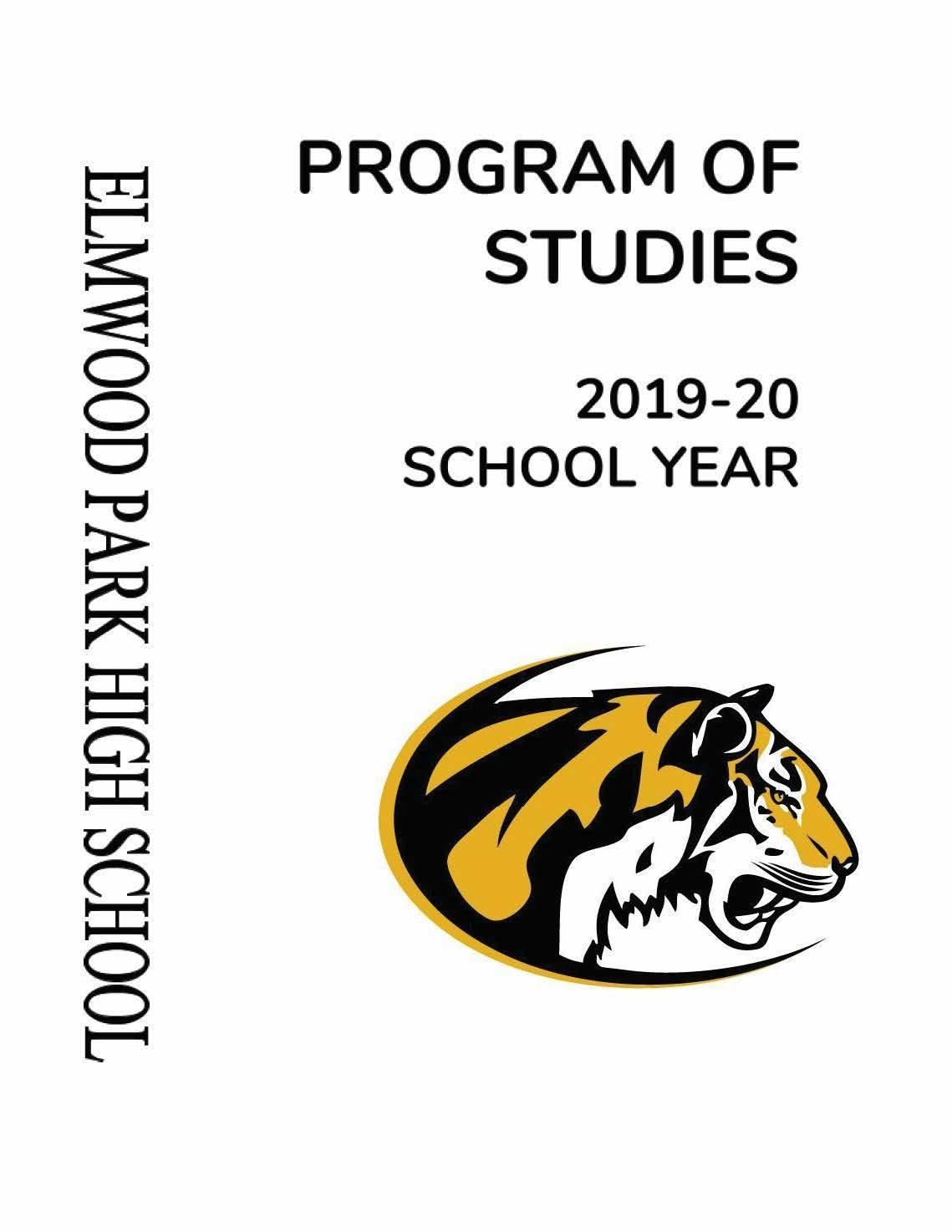2019-20 Program of Studies, page 1