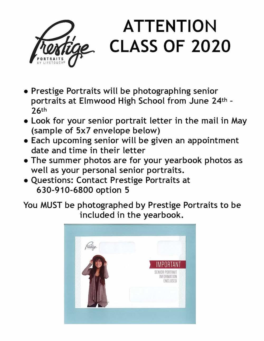 Senior portrait flyer
