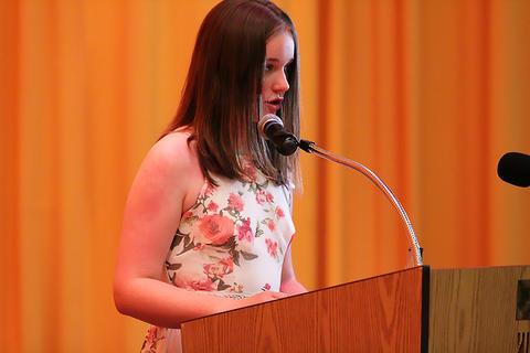 Student speaker Eleanor Zagroba