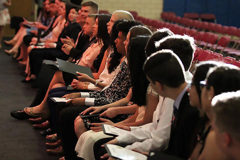Elm Middle School graduation ceremony, May 22, 2019