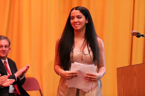 Student speaker Kayla Solano