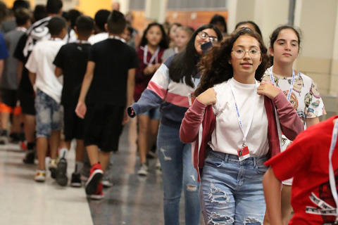 Elm first day of school, Aug. 14, 2019